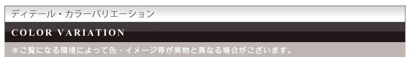 ディティール・カラーバリエーション COLOR VARIATION