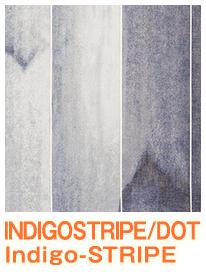 INDIGOSTRIPE/DOT ストライプ柄レースカーテン